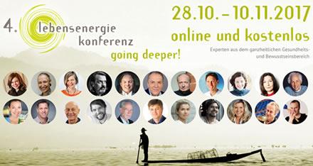 Lebensenergie Online-Konferenz - Kostenlos vom 28.10. bis 10.11. 2017